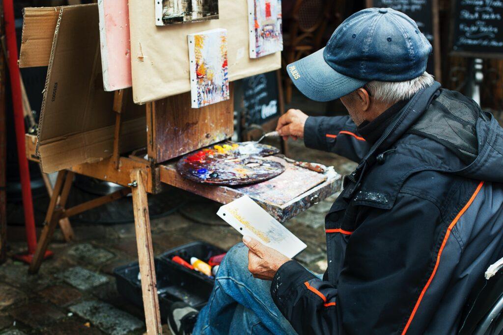 początkujący artysta amator